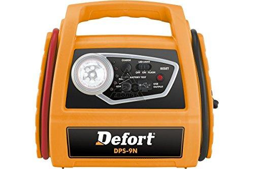 Defort 98293937 Dps-9N Mobile Starthilfe Powerstation Energiestation mit USB Anschluss und LED Licht