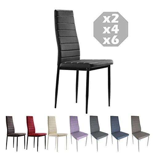 MOG CASA - Conjunto de 2, 4 o 6 sillas de Comedor...