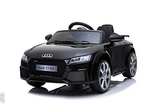 Toyas Audi TTRS Cabrio Kinder Auto Kinder Elektroauto Kinderfahrzeug 12V Akku USB MP3 Schwarz