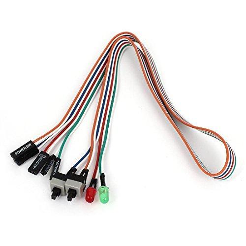 Atx Power-schalter (Schalter Leitungsdraht - TOOGOO(R)PC Gehaeuse Rot Gruen LED-Lampe ATX Stromversorgung neu HDD-Schalter Leitungsdraht 20