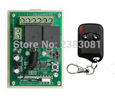 Calvas Hot Sales DC 12V 10A 2CH 315MHz/433MHZ Wireless RF Remote Control  Switch teleswitch 1X Transmisor +1 X Receiver