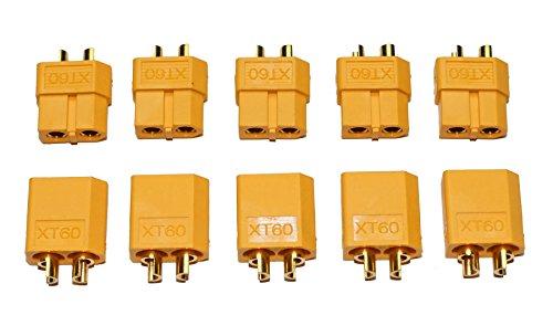 10 Stück (5 Paar) Nylon XT60 Hochstrom Stecker - Connector - XT 60 (Platz Buchse)