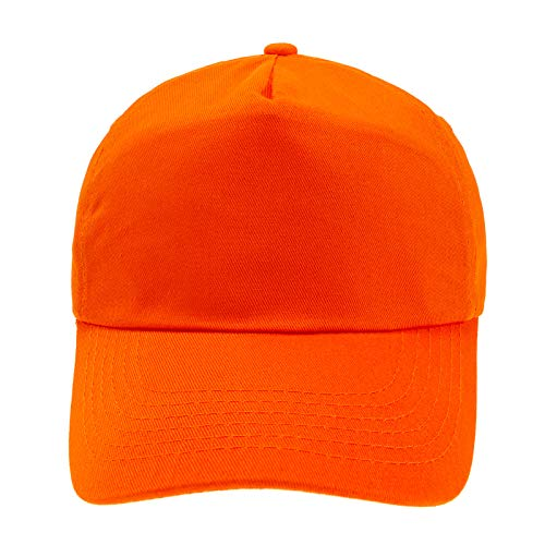 4sold Junior Original 5 Panel Cap Unisex Jungen Mädchen Mütze Baseball Cap Hut Kinder Kappe (Orange)