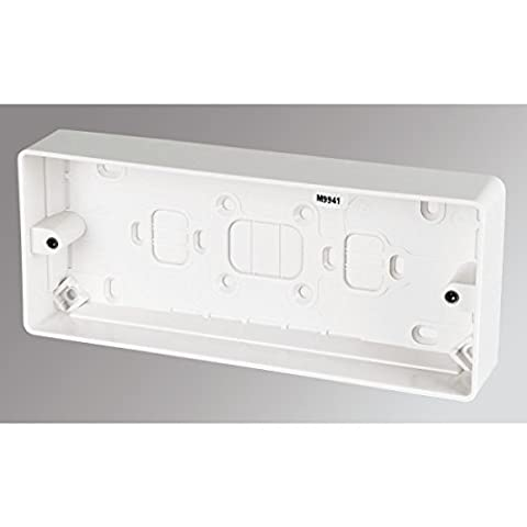 MK 3-Gang Surface Pattress Box White