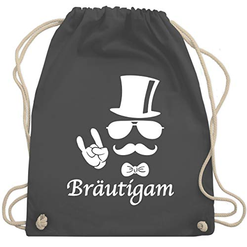 JGA Junggesellenabschied - Bräutigam Hipster Suit up Weiss - Unisize - Dunkelgrau - WM110 - Turnbeutel & Gym Bag
