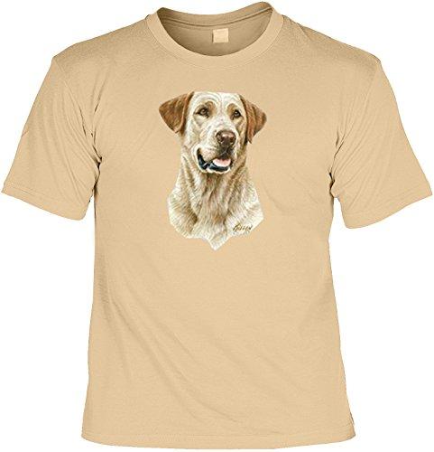 Hunde-Shirt/ T-Shirt mit Dog-Aufdruck: Gelber Labrador - schönes Geschenk für Hundefreunde Sand
