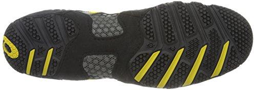 Asics - Herren Sportstyle Dan Gable ultimative 3 Schuhe In Weiß / Schwarz / Rot Black/Yellow/Gunmetal