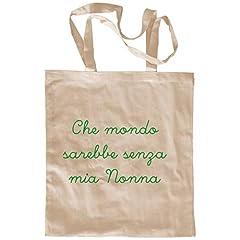 Idea Regalo - My Custom Style Borsa Shopper Cotone Beige#Nonni-Mio Nonna# M70