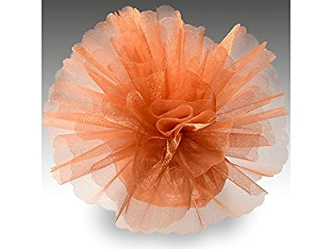 Organza Tulle Circles Crystal Pack of 50 Standard terracotta