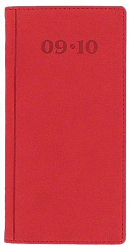 Letts-diario scolastico 12 mesi 09-10 verona, sottile, visualizzazione settimanale, colore: rosso