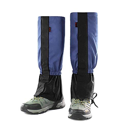 Schutz-system-schnee-hose (Regen Überschuhe Füße Gamasche Wasserdicht Wandern Langlebig Legging Gamasche Atmungsaktiv Hohe Beinabdeckung Wraps für Männer Frauen Kinder für Mountain Trekking Skifahren Wandern Klettern Jagd - 1 P)
