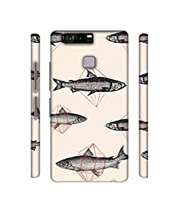 NattyCase Fish Design 3D Printed Hard Back Case Cover for Huawei P9