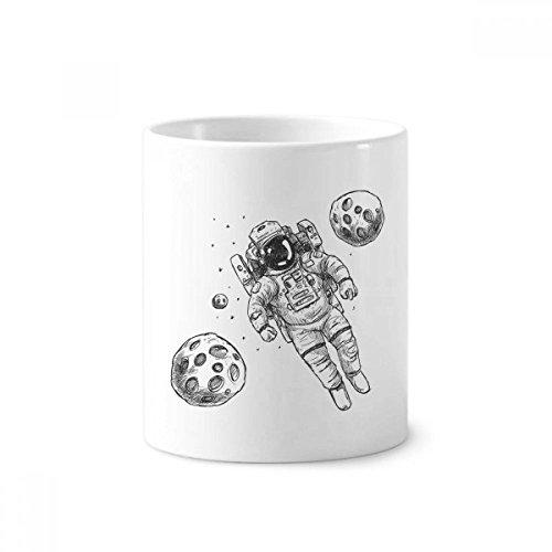 UNIVERSUM Alien Monster Astronaut Keramik Zahnbürste Stifthalter Becher weiß Tasse 350ml Geschenk