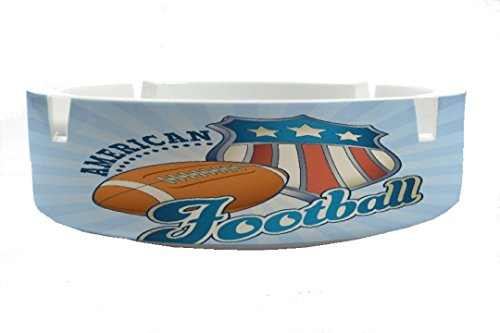 Aschenbecher Rund Retro American Football Ascher