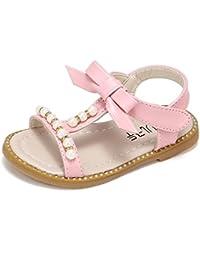 787adf27038aa OHQ Sandales Strass Bow Perle pour Enfants Chaussures Romaines Princesse  Vert Rose Blanc BéBé Filles Bowknot