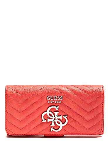 Guess Damen Violet Slg File Clutch Geldbörse, Orange (Coral)