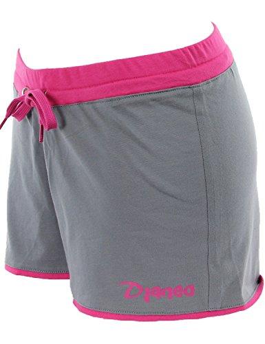 Short de sport Femme Djaneo Rio coton 20 couleurs Gris et Rose
