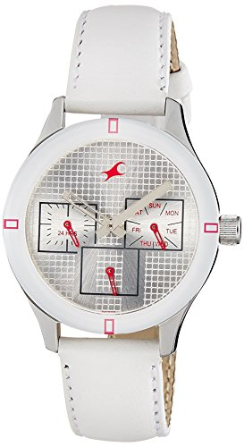 Fastrack Monochrome Analog White Dial Women's Watch - NE6078SL10 image