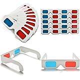 DARLINGTON /& Sohns 200/Unidades 3D Gafas de cart/ón F/ácil Gafas 3D Paquete Grande Rojo Azul Cian anaglyphen Gafas 3D glases