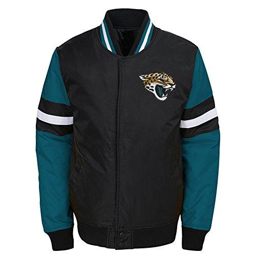 Outerstuff NFL Jacksonville Jaguars Jungen Youth legendären Farbe Blockiert Varsity Jacke, Jungen, 9K1B7FAJ7 JAG -BXL20, Schwarz, Youth XL (Varsity Jacken Für Kinder)