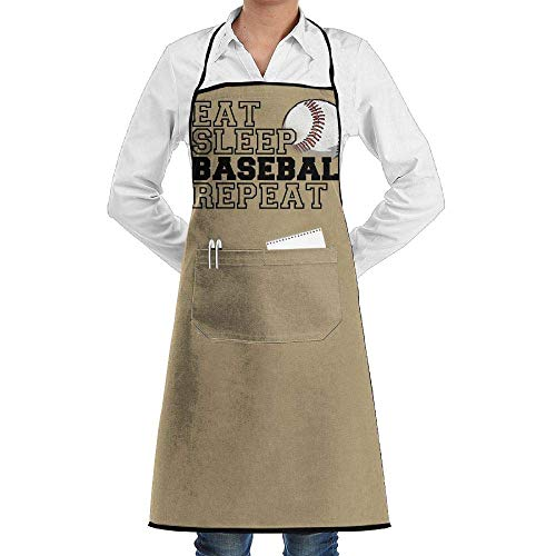 Hipiyoled Grill Aprons Kitchen Chef Bib Eat Sleep Volleyball Repeat Extra Long Adjustable Ties for Cooking,BBQ,Baking -