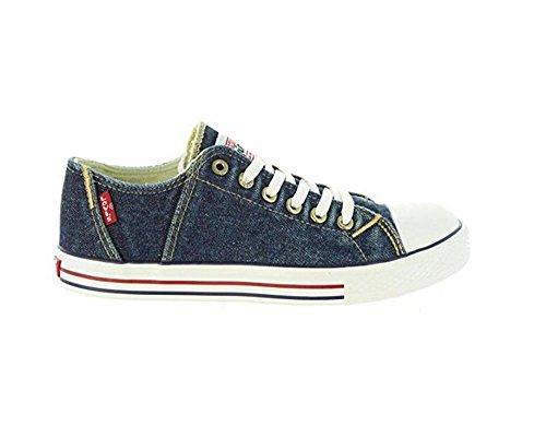 new arrivals 4ac76 9e466 Scarpe Kids Sneakers LEVI S Original Red Tab Low Lace in Tessuto BLU  VTRU0084T-BL