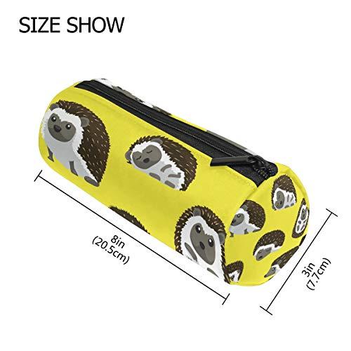 Muster Kostüm Igel - TIZORAX Federmäppchen mit Igel-Muster, mit Reißverschluss, für Münzen, Make-up, Kostüm-Tasche für Damen, Teenager, Mädchen, Jungen, Kinder