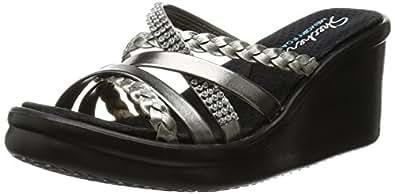 Skechers Rumblers Wild Child Heels Sandals Donna, Nero (BBK), 36 EU