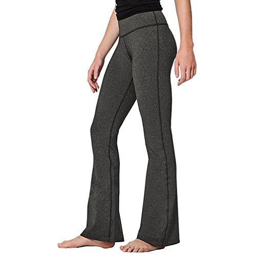 CHENGYANG Femme Lâche Yoga Pantalon Large Casual Stretch Training Fitness Sport Legging Foncé Gris
