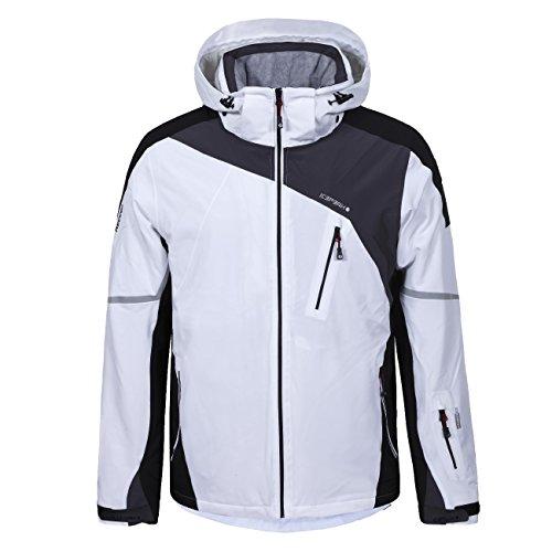 Herren Skijacke / Softshelljacke Icepeak - Nevin (weiß - schwarz) Outdoor Funktionsjacke, Gr. 54