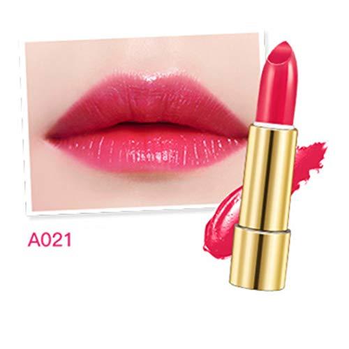 Flüssiger Lippenstift Helle Farbe Lippentönungen Tief Feuchtigkeitsspendende Dauerhafte Natürliche Charming Lip Glaze Frauen Make-up Lippenstift Tool-Coral rot