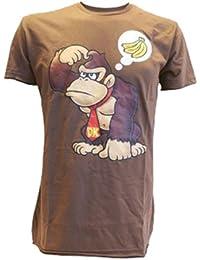 Nintendo T-Shirt -S- Donkey Kong w. Banana (braun)