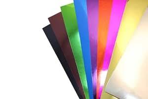 Maildor 354596C Carton métallisé 35 x 50 cm 255g/m2  Sachet de 10 Feuilles 10 couleurs