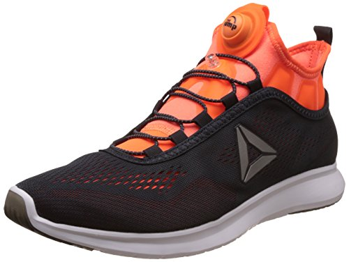 Reebok Herren Pump Plus Tech Laufschuhe, Grau (Lead/Wild Orange/White), 44 EU