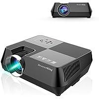 Proyector, Beamerking LED portátiles de 2200 lumens Videoproyectores apoyo de formato de vídeo Full HD a 1080P HDMI USB VGA AV for Laptop iPhone Andriod Smartphone PS4 Xbox TV Box