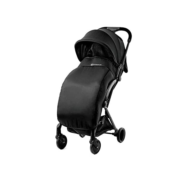 Kinderkraft Stroller PILOT Lightweight 5.8kg Compact Folded Pushchair Pram Buggy with Adjustable Footrest | Accessories Rain and Foot Cover from Birth to 3.5 Years (0-15kg) kk KinderKraft Mechanism for easy folding with one hand After folding, the stroller resembles a briefcase You do not have to stop and move around the stroller to make eye contact with the child 5
