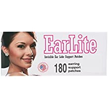 Earlite 180invisible Earring ear-lobe Support Patches toppe impermeabili in Ziplock sacchetto