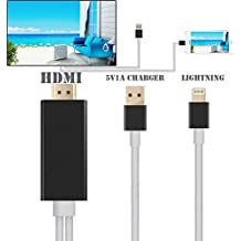 Eximtrade HDMI Cable MHL Lightning 1080P Conector Convertidor Adaptador 2 Metros para Apple iPhone 5/5s/6/6s/6 Plus/6s plus