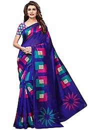 Riti Riwaz art silk with blouse piece Saree (S182014_ Blue_ Free Size)