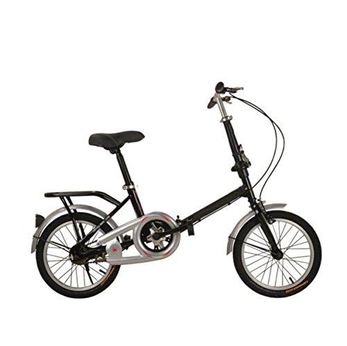 Fahrrad Kind Faltrad 20 Zoll 16 Zoll 12 Zoll Erwachsenen Student Fahrrad High-end Faltrad Outdoor Radfahren,Black-16in