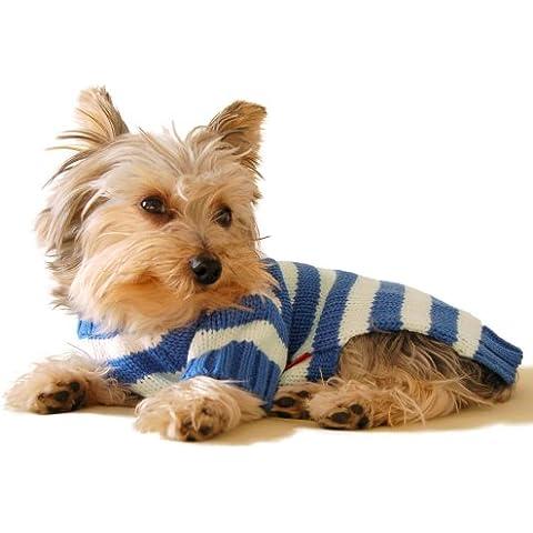 Stinky G Striscia Blu Maglione Felpa per Cani L #14