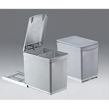 Wesco Basic-2 Abfalleimer 2x7,5L Vollauszug 30-er Küchenschrank ...