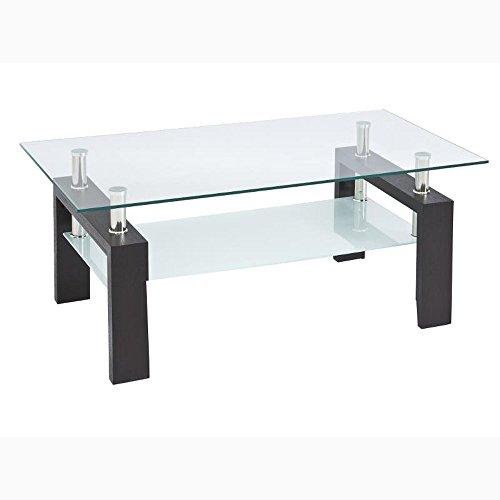 JUSTyou Lisa basic Table de salon/Table basse Wengé 45 x 60 x 100 cm