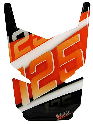 BIKE-label 502540 Tankpad 3D Orange Stripes Protection de réservoir Compatible avec KTM-125 Duke