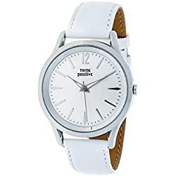 THINKPOSITIVE, Womens watch, Model SE W 130 A Big Milano,Imitation leather strap, Unisex, Color White
