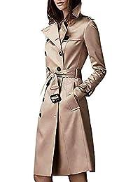 Amazon.es  gabardina charol mujer - Abrigos   Ropa de abrigo  Ropa 90def62b1039
