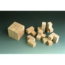 Holzspielzeug Puzzle cube 5 x 5 x 5 cm  NEU Denkspiel Geschicklichkeitsspiel Erzgebirge