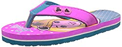 Barbie Girls Sea Green and Pink Flip-Flops and House Slippers - 9 kids UK/India (27 EU)