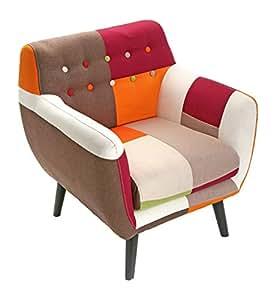 versa fauteuil patchwork scandinave vintage cuisine maison. Black Bedroom Furniture Sets. Home Design Ideas