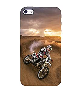 printtech Dirt Motocross Motorcycle Back Case Cover for Apple iPhone 4S